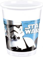 8 Star Wars Theme Plastic Party Cups